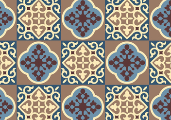 Blue Floral Pattern Vector - Free vector #349757
