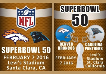 Superbowl 50 Flyer Vectors - vector gratuit #349807