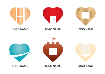 Heart Logo Collections - vector gratuit #349827