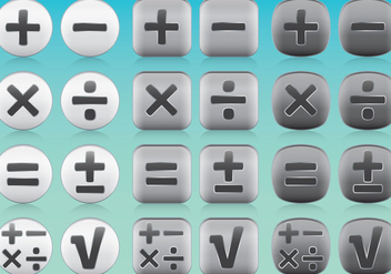 Math App Icon Vectors - vector gratuit #349847