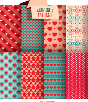 8 Valentine's day textures - Free vector #349917