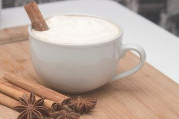 Cup of cappuccino and spices - Free image #350297
