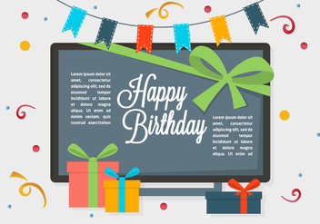 Free Happy Birthday Vector Background - Free vector #350357