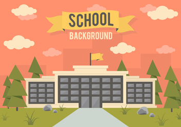 Free School Landscape Vector Background - Free vector #350367