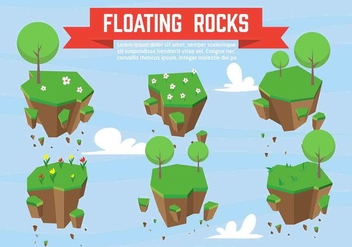 Free Vector Floating Rocks - Free vector #350397