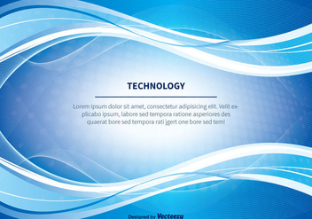 Blue Abstract Technlogy Vector Background - Kostenloses vector #350517