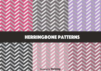 Pastel Herringbone Pattern Vectors - Free vector #350637