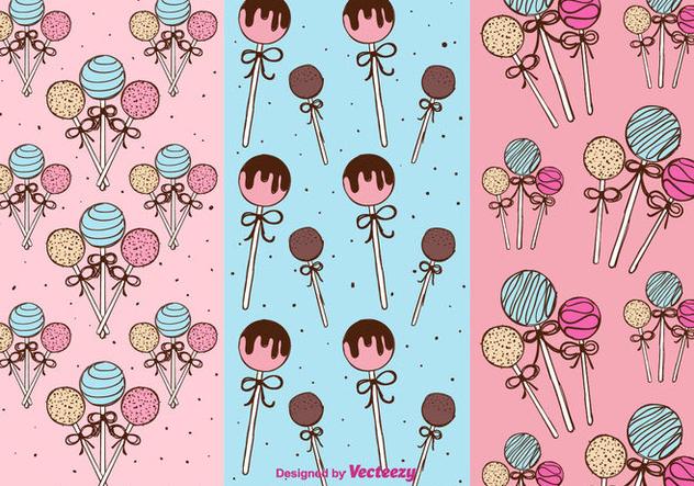 Cake Pops Patterns Vector - vector #350647 gratis