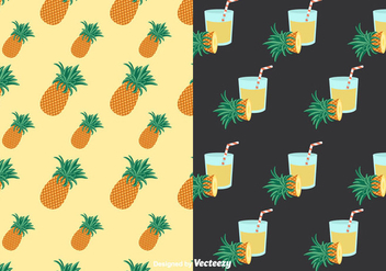 Ananas Patterns Vector - Free vector #350707