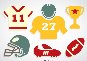 Football Colors Icons Vector - Free vector #350727