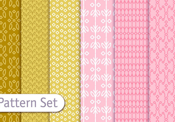 Romantic Line Pattern Set - vector #350847 gratis