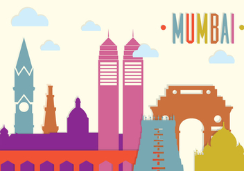 Mumbai Landscape in Vector - Kostenloses vector #350877