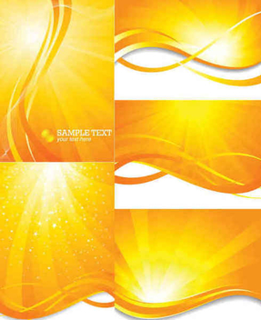 Orange Light Bursting Background Set - vector #351157 gratis