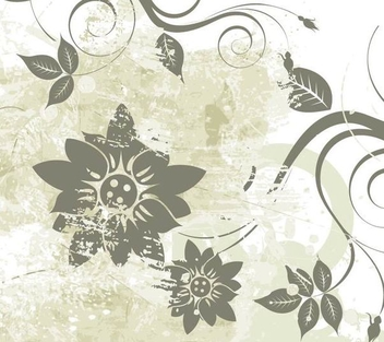 Flower Grunge Abstract Background - Kostenloses vector #351317