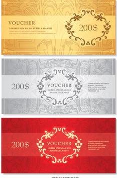 Voucher template - Free vector #351437