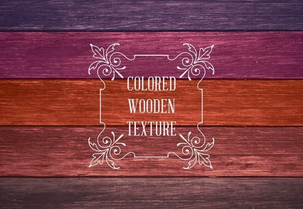 Colorful Wooden Textures - vector #351447 gratis