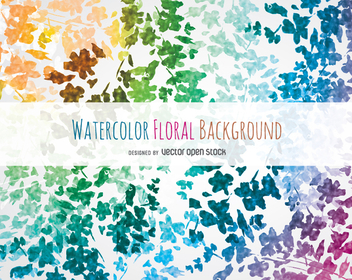 Watercolor floral background - vector gratuit #351627