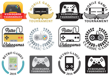 Video Game Logos - vector #351697 gratis