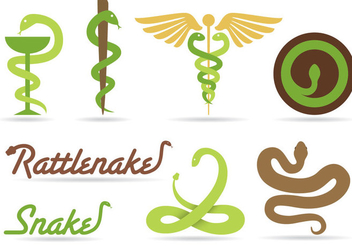 Snake Logo Vectors - Free vector #351707