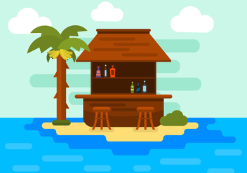 Illustration of an Island in Vector - vector gratuit #351727