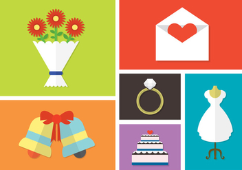 Vector Set of Wedding Day Accessories - vector gratuit(e) #351857