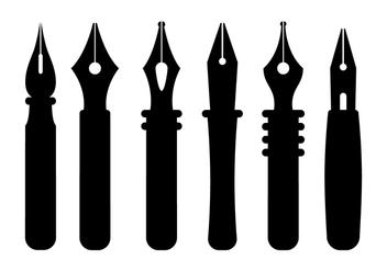 Pen Nib Vectors - Free vector #351997