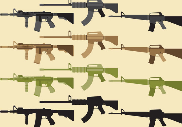 Military Weapon Vectors - Free vector #352027