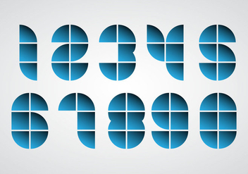 Free Geometric Numbers Vector - бесплатный vector #352037