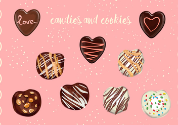 Vector Candies And Cookies - Free vector #352057