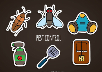Pest Control Sticker Icons - Free vector #352117