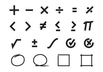 Free Math Symbols Vector - Free vector #352127