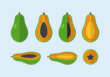 Vector Papaya - vector #352147 gratis