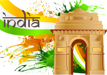 India Gate Vector - vector #352267 gratis
