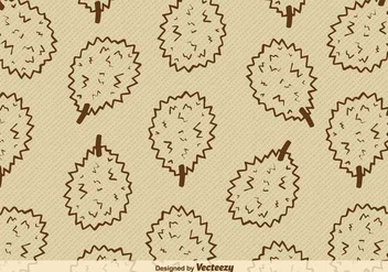 Durian Fruit Vector Background - vector gratuit #352297