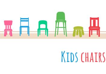 Kids Chair Set - Kostenloses vector #352367