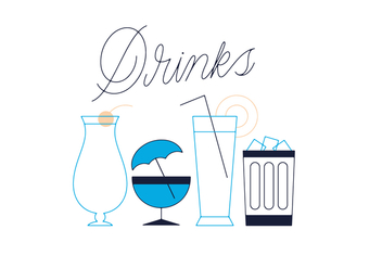 Free Drinks Vector - vector gratuit #352587