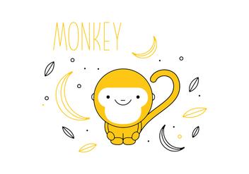Free Monkey Vector - Kostenloses vector #352617