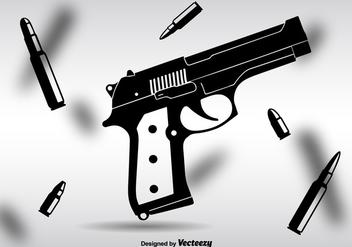 Glock Black Vector Silhouette - Free vector #352777