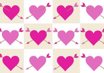 Free Valentines Arrow Vector - vector gratuit #352887