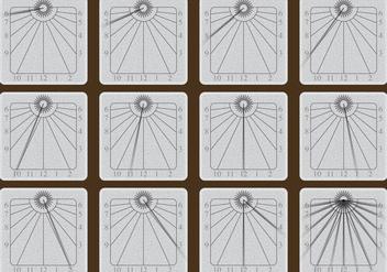 Stone Sun Dial Vectors - бесплатный vector #352987