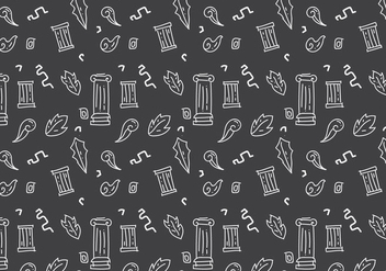 Free Roman Pillar Patterns #2 - vector gratuit #353007