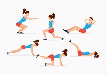 FREE EXERCISE VECTORS - Free vector #353087