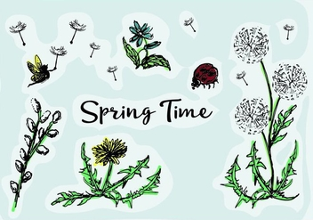 Free Spring Vector Flowers - vector gratuit #353207