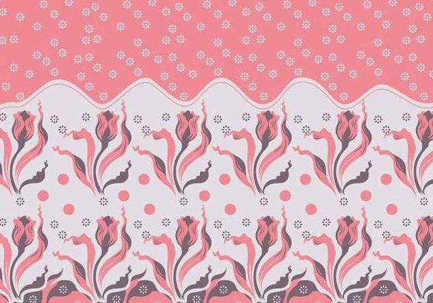 Batik Flowers Vector - Free vector #353357