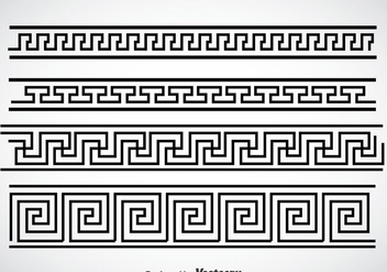Greek Key Black Border Vector Sets - Free vector #353407