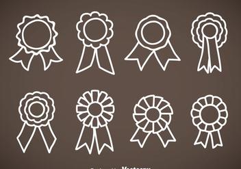 Cockade Hand Drawn Icons Vector Sets - Kostenloses vector #353417