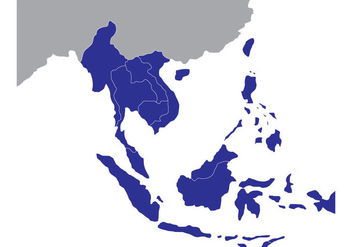 Free State Map of Southeast Asia - vector gratuit #353527