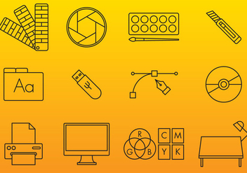 Graphic Arts Vector Icons - Free vector #353537