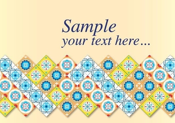 Talavera Tile Vector Invitation - Free vector #353627