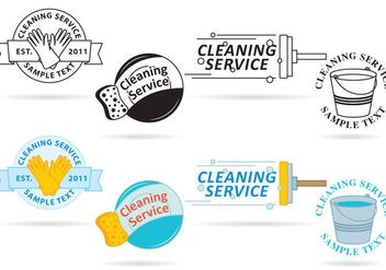 Cleaning Service Logo Vectors - бесплатный vector #353637